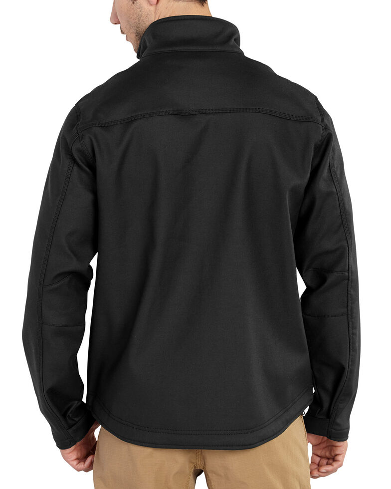 Carhartt Men's Pineville Softshell Work Jacket, Black, hi-res