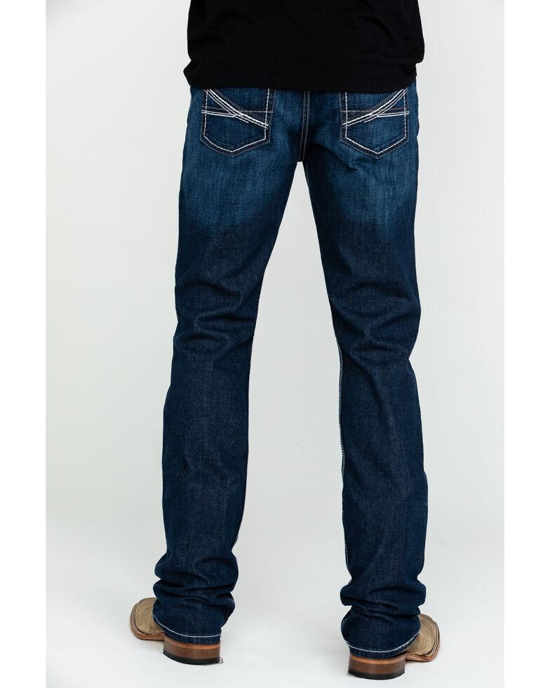 Cinch Men's Ian Dark Mid Slim Bootcut Jeans , Indigo, hi-res