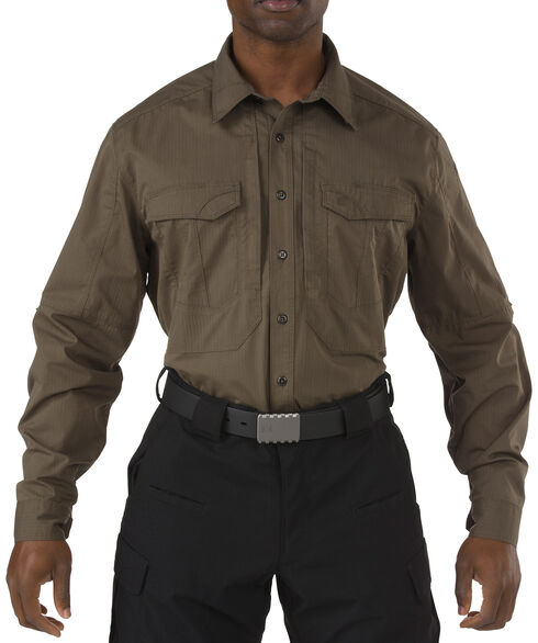 5.11 Tactical Stryke Long Sleeve Shirt, Dark Brown, hi-res