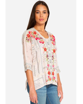 Johnny Was Women's Carnation Blouse, Light Pink, hi-res