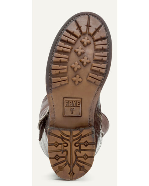 Frye Women's Dark Brown Valerie OTK Shearling Tall Boots - Round Toe , Dark Brown, hi-res