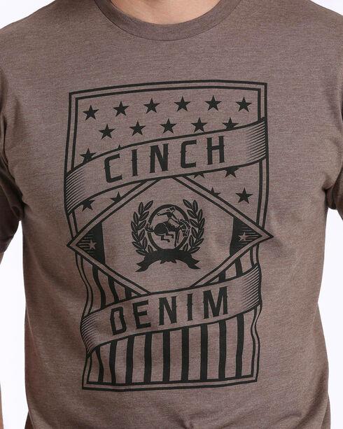 Cinch Men's Screen Print Short Sleeve Jersey Tee, Brown, hi-res