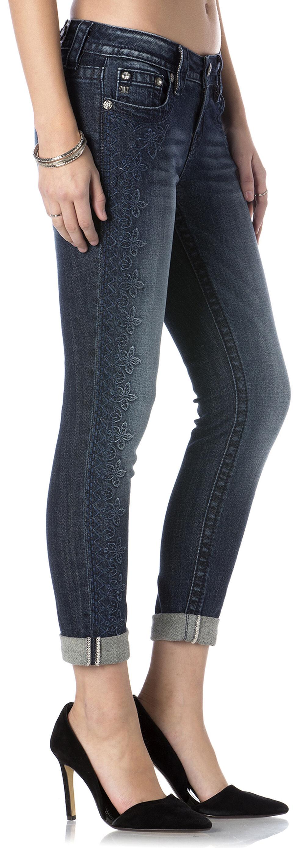 Miss Me Women's Vineyard Vamp Roll Cuff Skinny Jeans, Indigo, hi-res