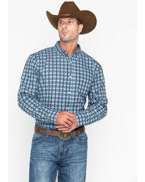 Cody Core Men's Small Plaid Buckshot Button Long Sleeve Shirt , Grey, hi-res