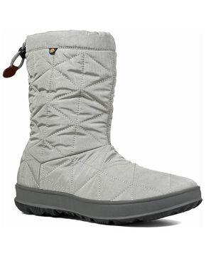 Bogs Women's Snowday Waterproof Winter Boots - Round Toe, Grey, hi-res