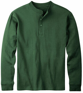 Mountain Khakis Men's Hunter Green Trapper Henley Shirt, Hunter Green, hi-res