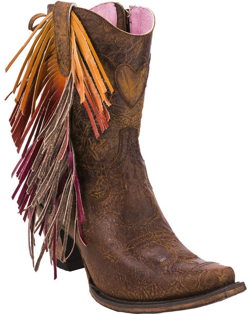 Junk Gypsy by Lane Women's Brown Spirit Animal Ankle Boots - Snip Toe , Brown, hi-res