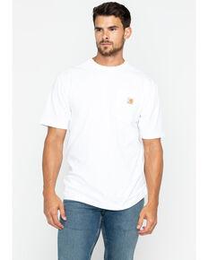 Carhartt Short Sleeve Pocket Work T-Shirt, White, hi-res