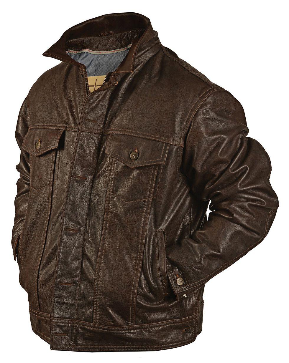 STS Ranchwear Men's Maverick Brown Leather Jacket, , hi-res