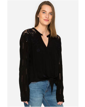 Johnny Was Women's Heidine Tie Blouse, Black, hi-res