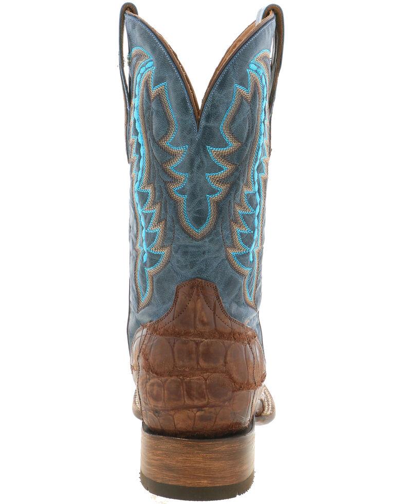 El Dorado Men's Caiman Leather Western Boots - Wide Square Toe, Chocolate, hi-res