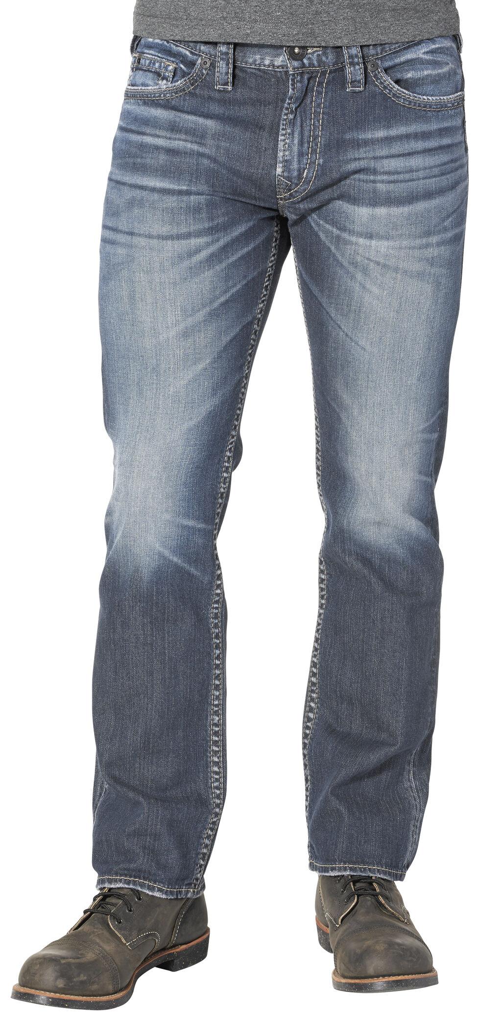 Silver Men's Nash Classic Fit Straight Jeans, Indigo, hi-res