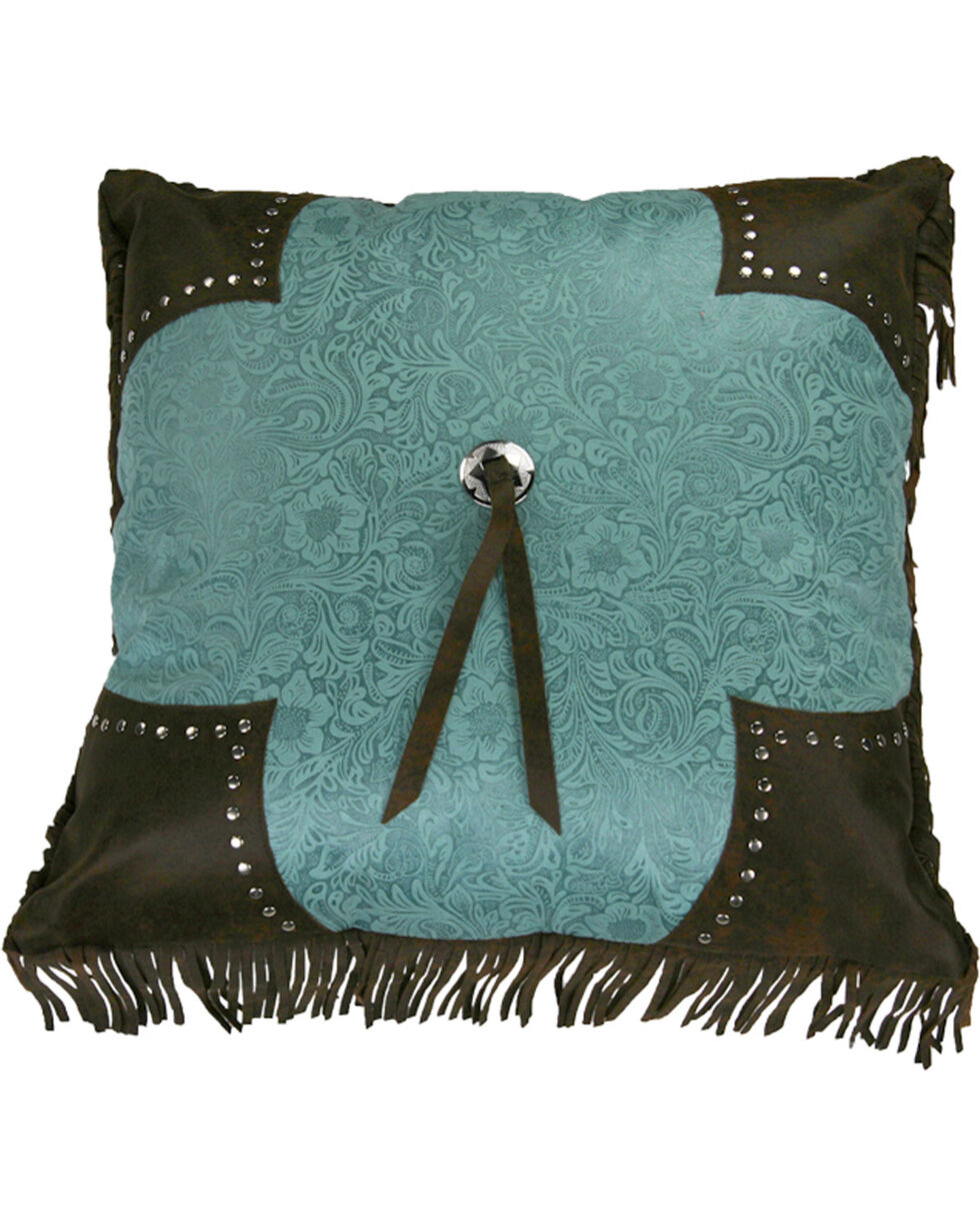HiEnd Accents Scalloped Edge Cheyenne Fringe Pillow, Multi, hi-res