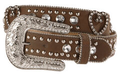 Blazin Roxx Bling Heart Belt, Brown, hi-res