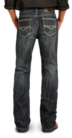 Rock & Roll Cowboy Men's Indigo Double Barrel Jeans - Straight Leg , Indigo, hi-res
