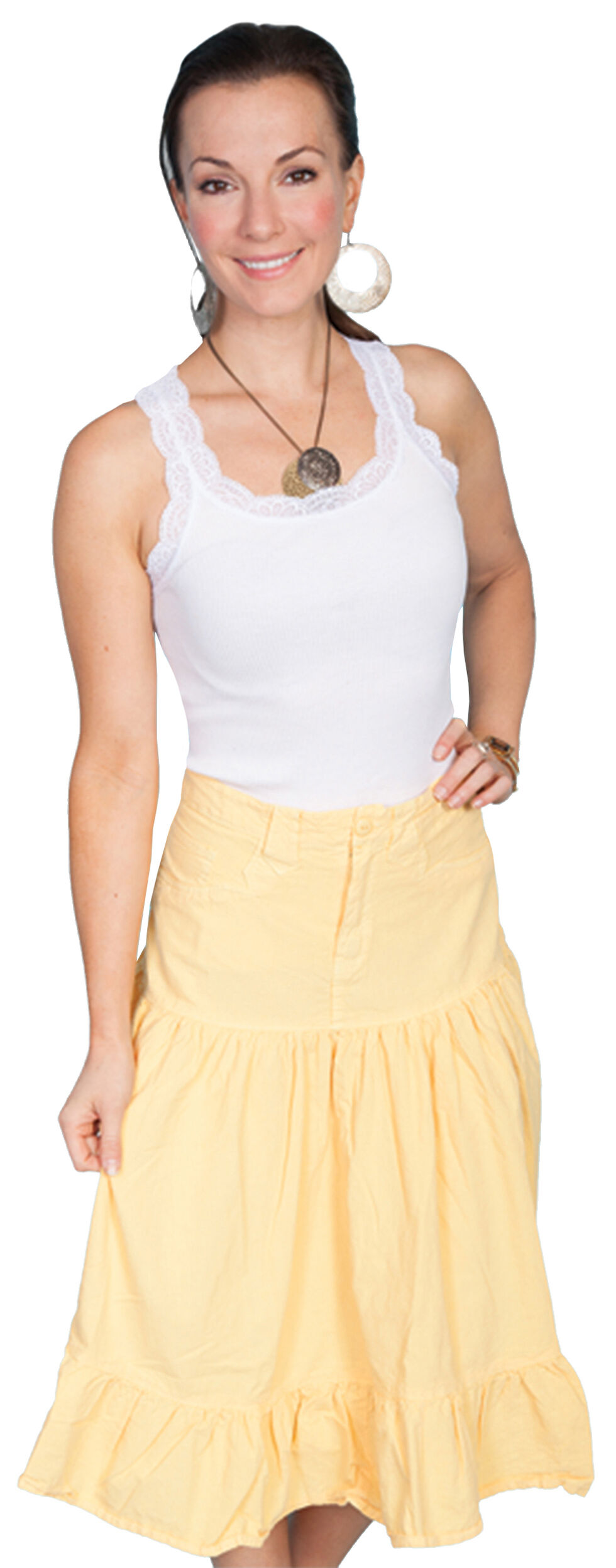 Scully Jean Style Skirt, Yellow, hi-res