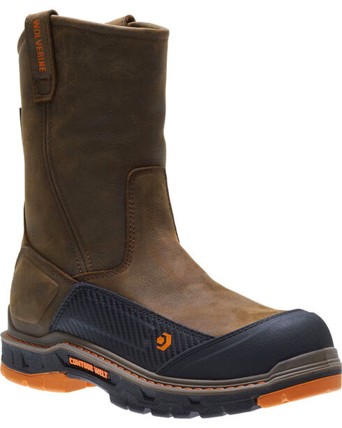 Wolverine Men's Overpass CarbonMAX Waterproof Wellington Boots - Composite Toe, Brown, hi-res