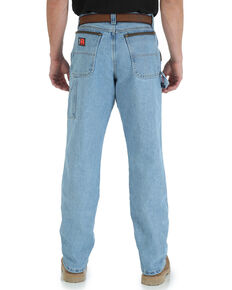 Wrangler Riggs Men's Relaxed Carpenter Work Jeans - Big , Indigo, hi-res