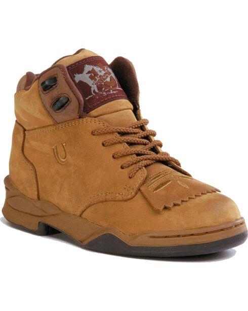 Roper Athletic Lace-Up HorseShoes, Tan, hi-res