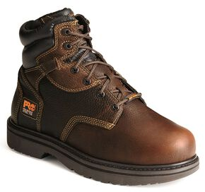 "Timberland PRO 6"" Internal Met Guard Work Boots - Steel Toe, Burgundy, hi-res"