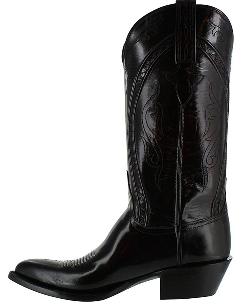 Lucchese Men's Handmade Black Western Boots - Pointed Toe, Black Cherry, hi-res