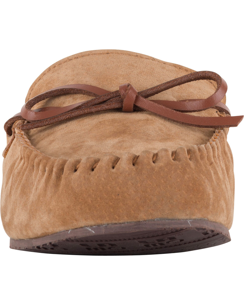Lamo Men's Aiden Suede Lace Moccasins - Moc Toe, Chestnut, hi-res