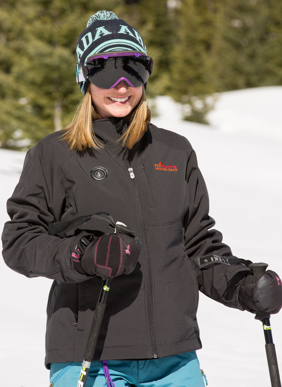 My Core Control Women's Heated Softshell Jacket, Black, hi-res