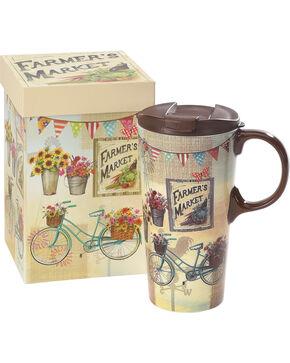 Cypress Home by Evergreen Farmer's Market Ceramic Travel Mug , No Color, hi-res