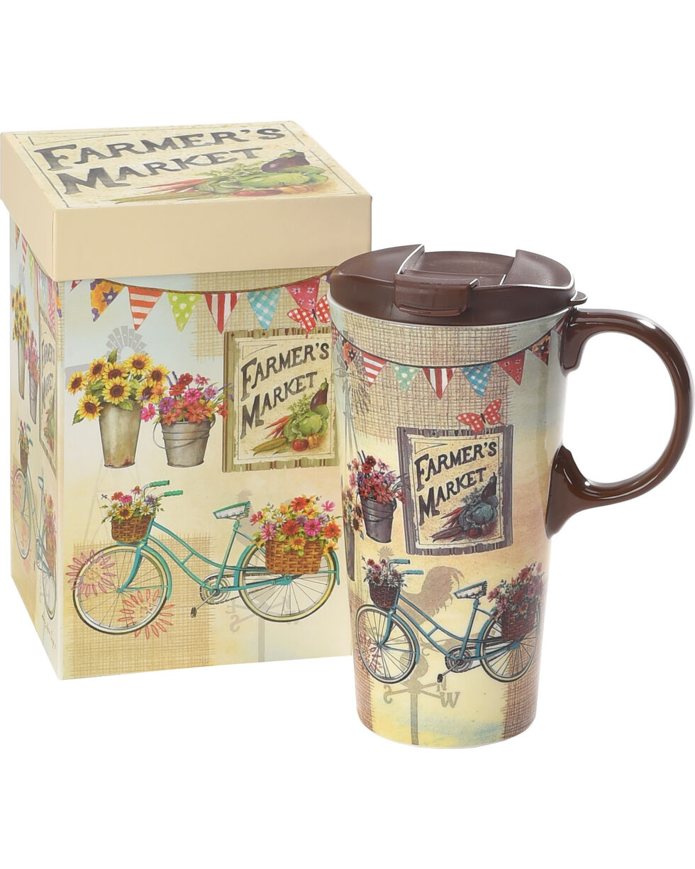 Cypress Home by Evergreen Farmer's Market Ceramic Travel Mug , No Color, hi-res
