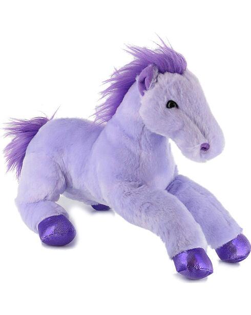 Aurora Flopsies Perfect in Purple Horse Plush Toy, Purple, hi-res