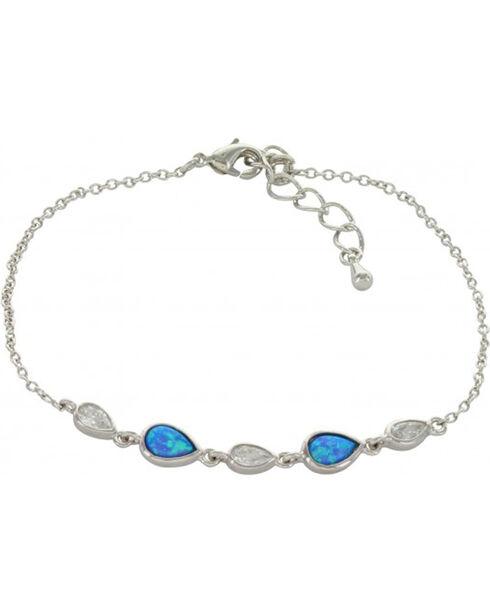 Montana Silversmiths Women's River of Lights Falling into Water Bracelet , Silver, hi-res