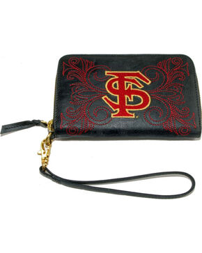 Gameday Boots Florida State University Leather Wristlet, Black, hi-res
