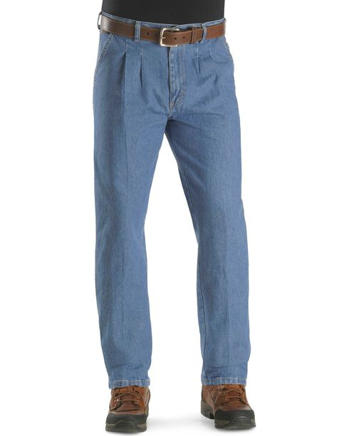 "Wrangler Jeans - Rugged Wear Relaxed Fit Angler Pants - Big 44"" to 60"" Waist, Indigo, hi-res"