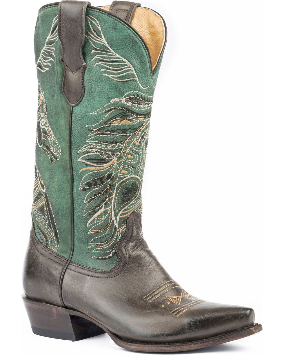 Roper Women's Art Of The Horse Cowgirl Boots - Snip Toe , , hi-res