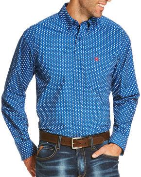 Ariat Men's Blue Rico Print Long Sleeve Shirt , Blue, hi-res