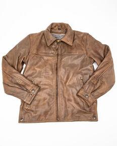 STS Ranchwear Boys' Cream Youth Turnback Leather Jacket, Cream, hi-res