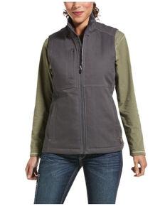 Ariat Women's Rebar Grey Duracanvas Insulated Vest, Grey, hi-res