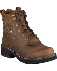 Ariat Probaby Lace-Up Boots - Round Toe, Driftwood, hi-res