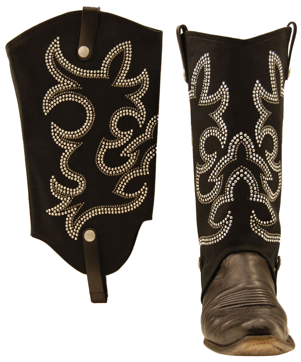 BootRoxx Cowgirl Boot Rugs, Black, hi-res