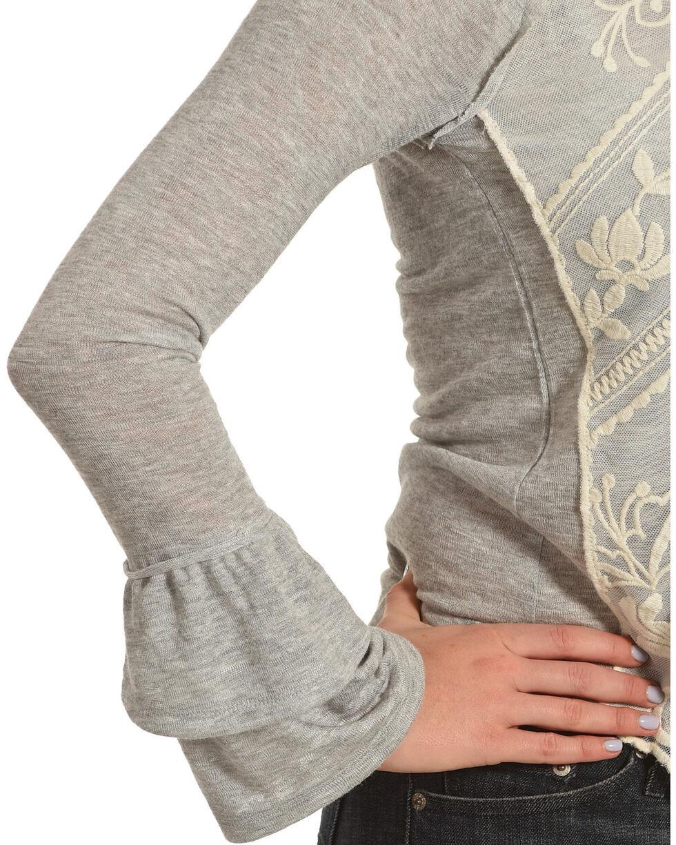 Jolt Women's Grey Double Sleeve Top , , hi-res