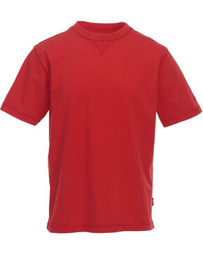 Woolrich Men's Red First Forks Solid T-Shirt , Red, hi-res