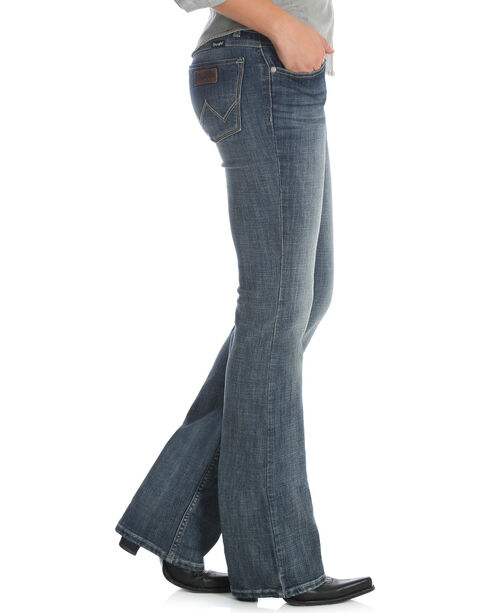 Wrangler Retro Women's Sadie Medium Blue Contour Waist Jeans - Boot Cut, Indigo, hi-res