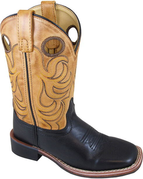 Smoky Mountain Youth Boys' Dark Jesse Western Boots - Square Toe , Brown, hi-res