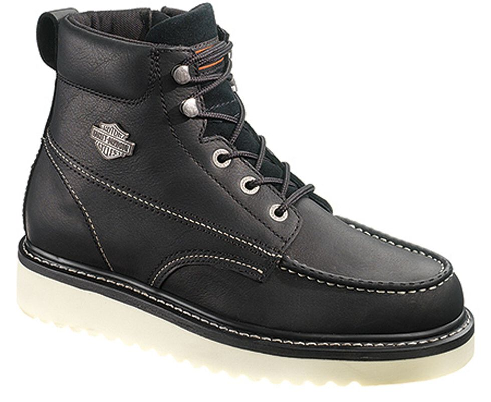 Harley Davidson Men's Beau Lace-Up Boots, Black, hi-res