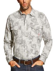 Ariat Men's Grey FR Milo Shirt - Big and Tall, Grey, hi-res