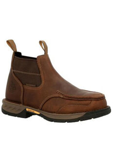Georgia Boot Men's Athens 360 Chelsea Work Boots - Steel Toe, Brown, hi-res