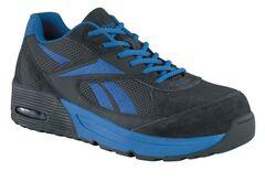 Reebok Men's Beviad Jogger Work Shoes - Composition Toe, Blue, hi-res