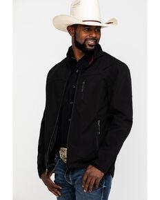 Cody James Core Men's Black Embroidered Steamboat Bonded Jacket , Black, hi-res