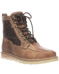 Lucchese Men's Mad Dog Lacer Boots - Moc Toe, Chocolate, hi-res