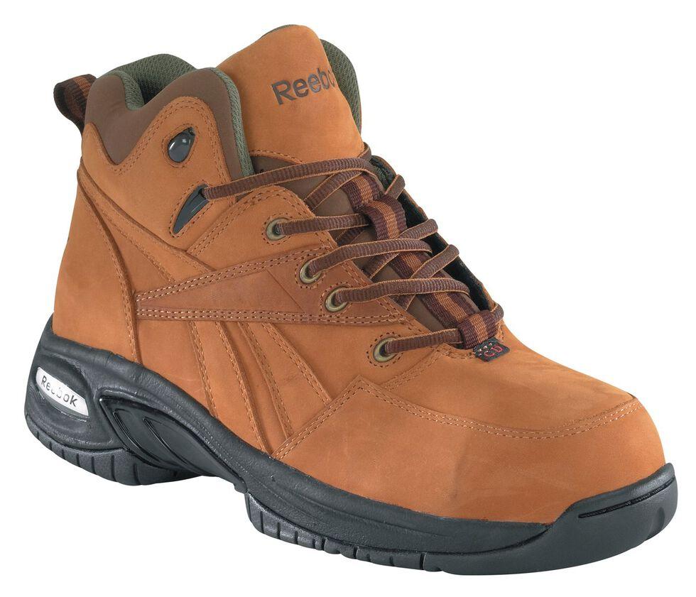 Reebok Women's Tyak Hiking Work Boots - Composite Toe, Brown, hi-res